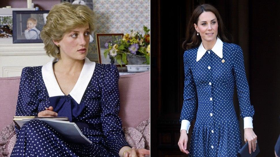 Kate Middleton S Blue Polka Dot Dress Greatly Resembles