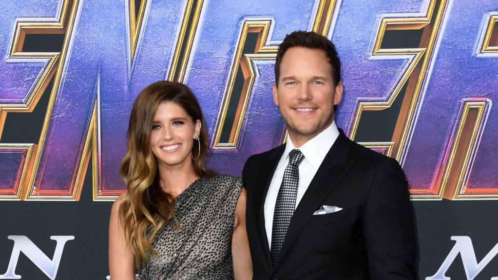 "Chris Pratt and US author Katherine Schwarzenegger arrive for the World premiere of Marvel Studios' ""Avengers: Endgame"" at the Los Angeles Convention Center on April 22, 2019 in Los Angeles."