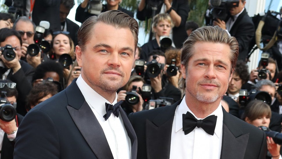 Brad Pitt and Leonardo dicaprio during the 72nd annual Cannes Film Festival
