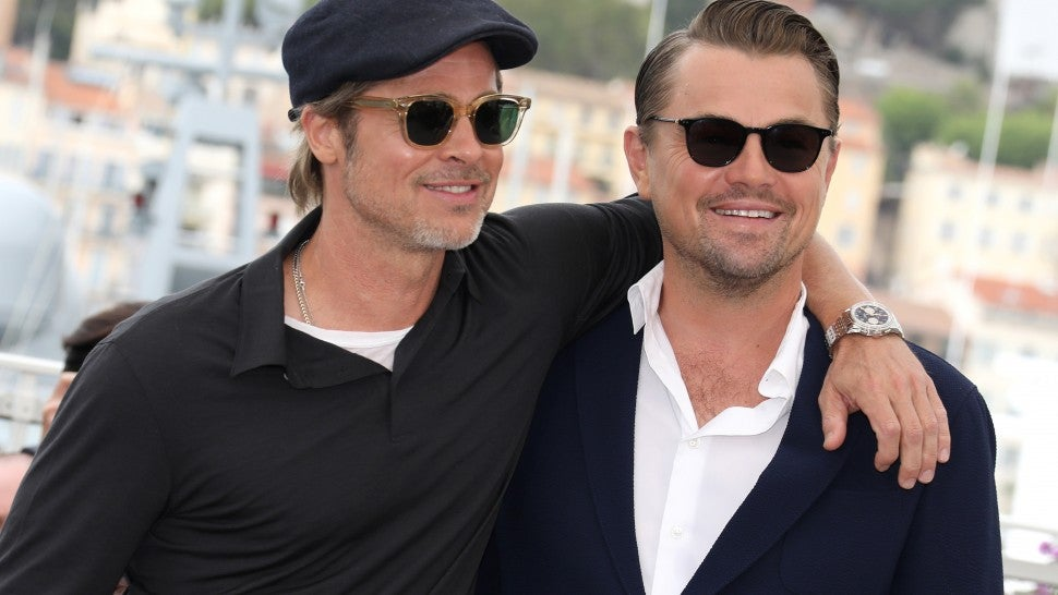 Brad Pitt and Leonardo DiCaprio Are Old Friends at 'Once Upon a Time in Hollywood' Photocall at Cannes