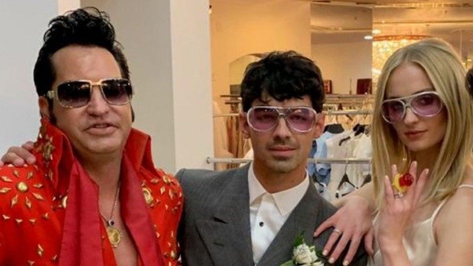 Image result for Joe Jonas and Sophie Turner wedding