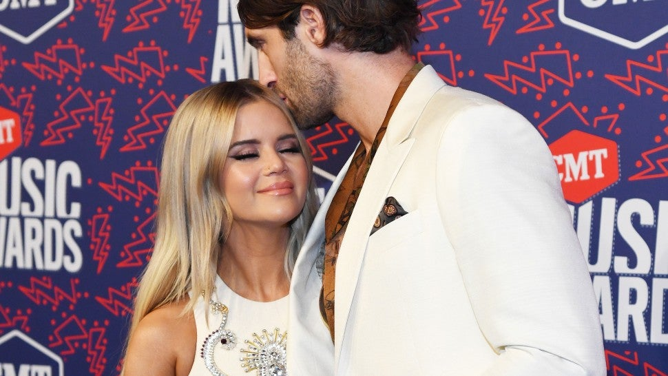Maren Morris and Ryan Hurd at the 2019 CMT Music Awards