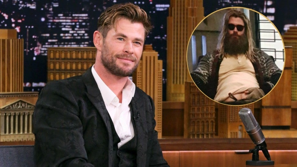Chris Hemsworth sings Johnny Cash as fat Thor on 'Tonight Show'