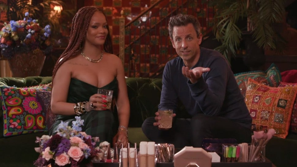 Rihanna Goes Day Drinking with Seth Meyers and Hilariously Rates His Pick-Up Lines