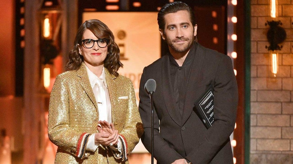 Tina Fey and Jake Gyllenhaal present at the 2019 Tony Awards in New York on June 9.