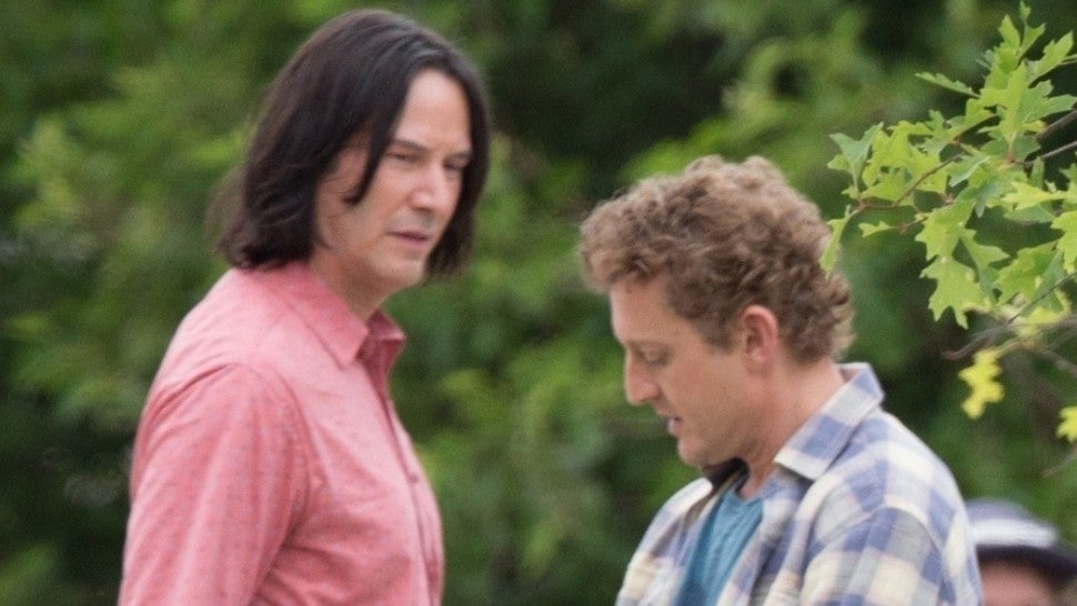 Keanu Reeves Spotted Filming 'Bill & Ted 3' With Alex Winter -- Pic!
