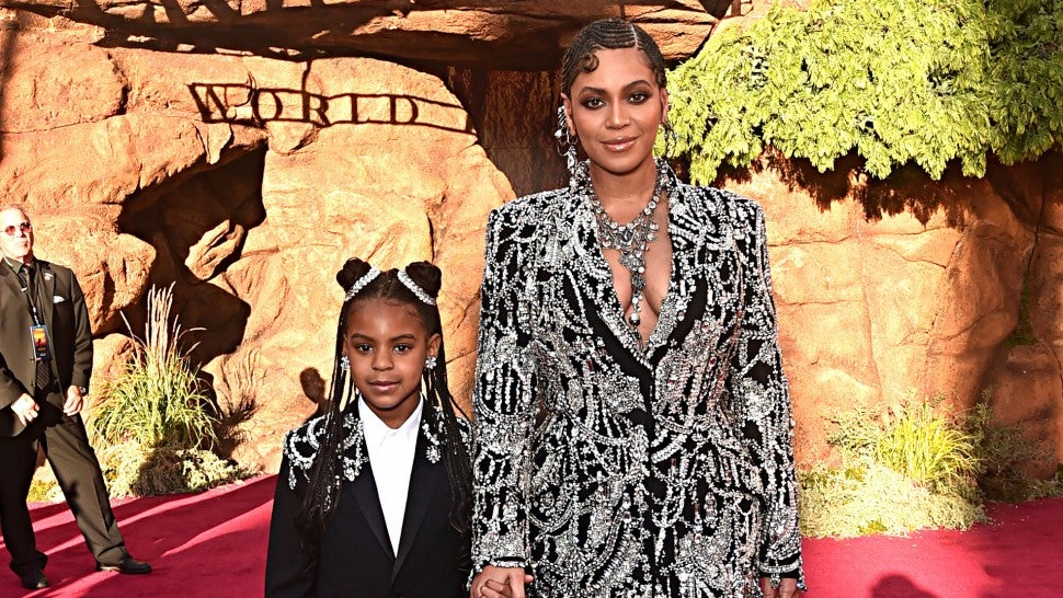 Beyonce and Blue Ivy at lion king world premiere