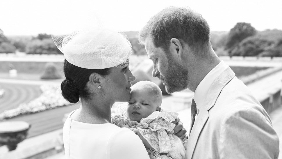Prince Harry and Meghan Markle share gorgeous photos from Archie Harrison's christening