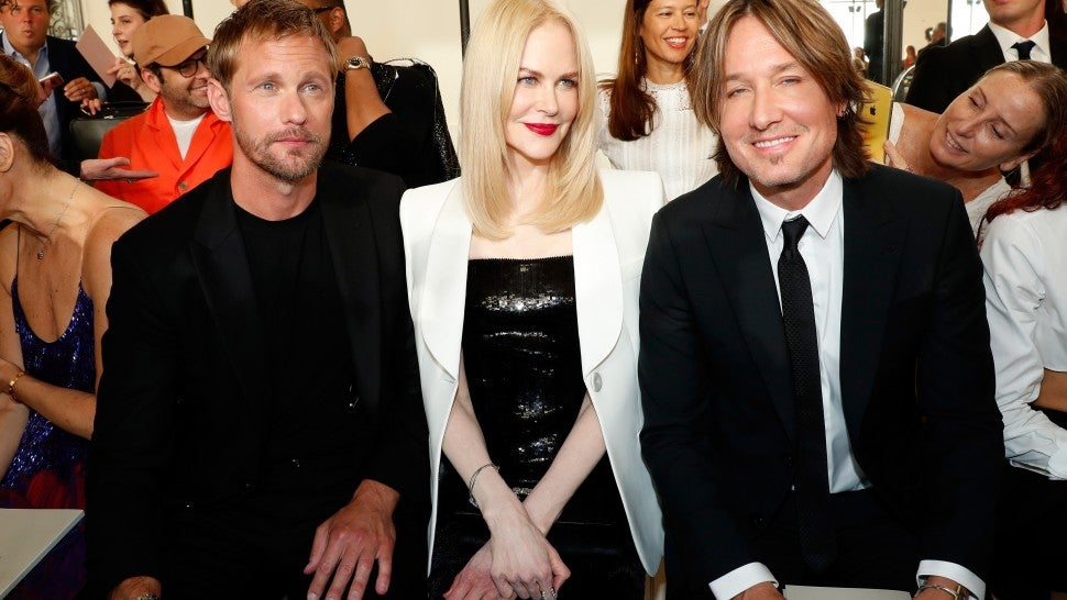 Nicole Kidman Attends Fashion Show With Keith Urban and Her 'Big Little Lies' Co-Star Alexander Skarsgard