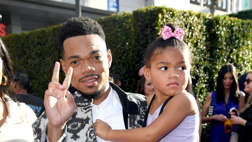 Chance the Rapper Daughter Lion King Premiere