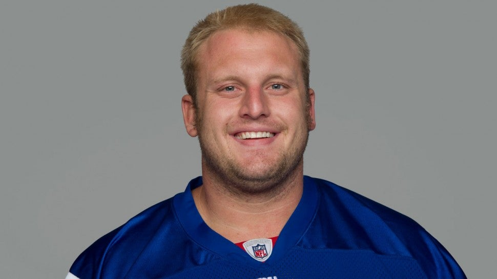 Mitch Petrus of NY Giants in 2011