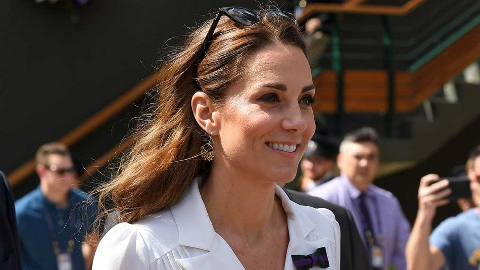 Kate Middleton Stuns In Regal White Shirt Dress During Surprise Wimbledon Appearance