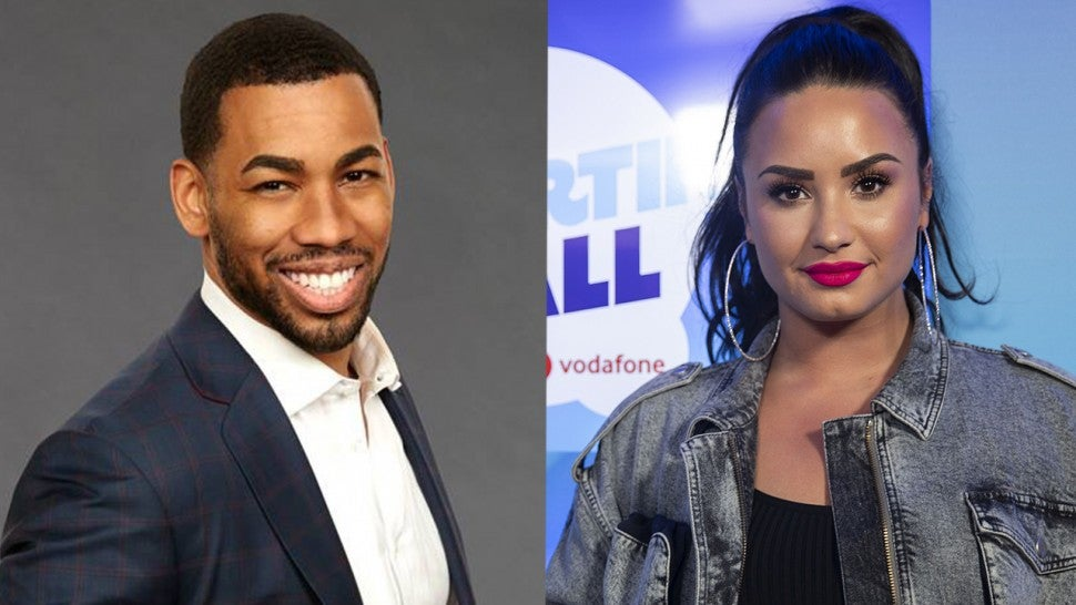 Is there a romance brewing between a 'Bachelorette' contestant and Demi Lovato?