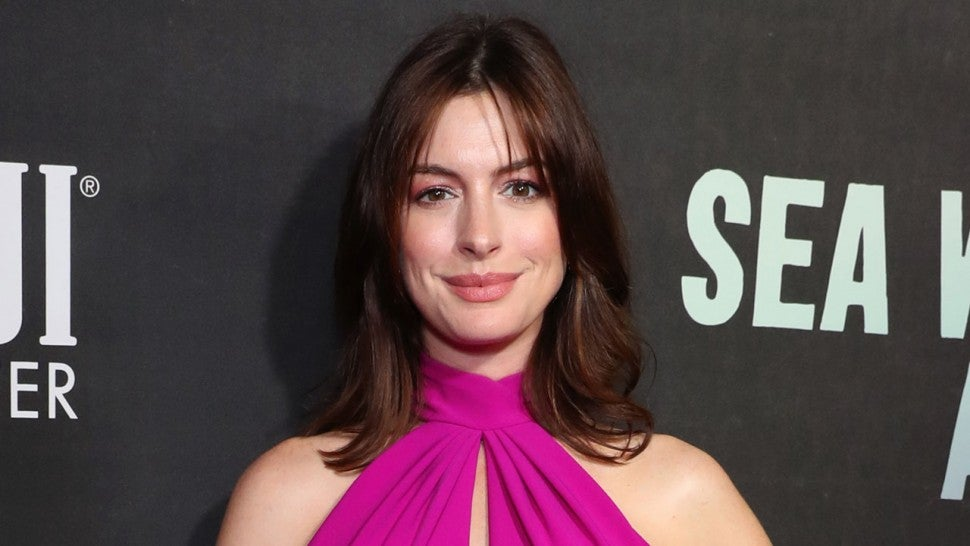 Anne Hathaway at FIJI Water At Sea Wall / A Life Opening Night On Broadway