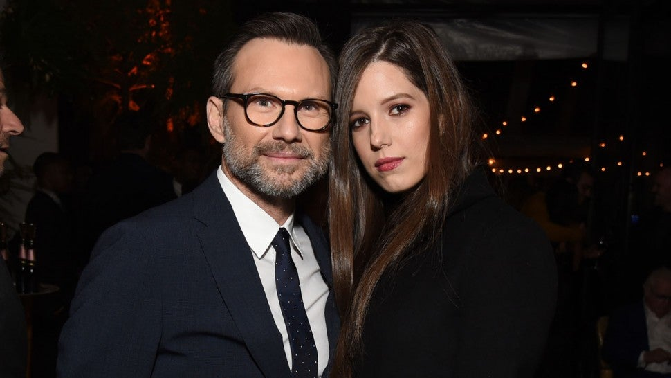 Christian Slater and Brittany Lopez at the 2018 GQ Men of the Year Party