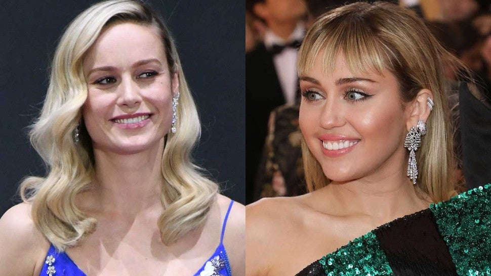 Brie Larson and Miley Cyrus