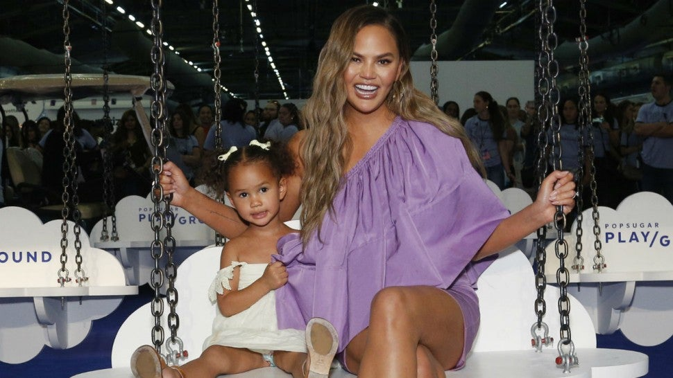 Luna and Chrissy Teigen