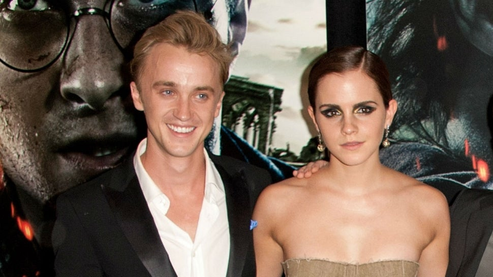 Emma Watson Learns to Play Guitar - with Teacher Tom Felton!