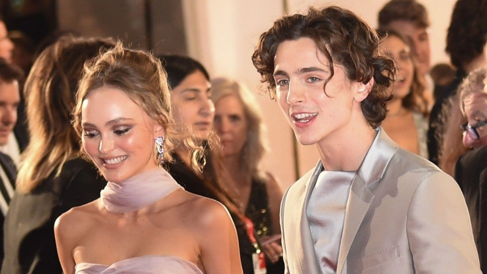 lily-rose depp and timothee chalamet at the 76th Venice Film Festival