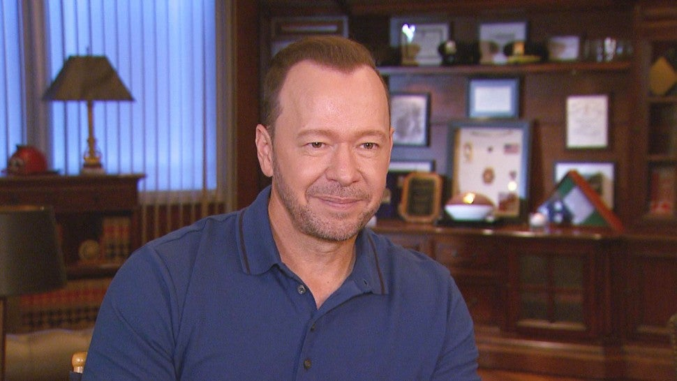 How Donnie Wahlberg Convinced Bridget Moynahan to Do 'Blue Bloods' (Exclusive)