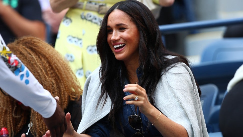 Meghan Markle Cheers on Serena Williams at U S  Open Final