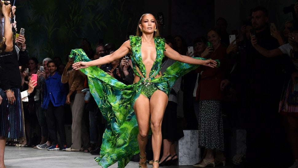 Lo Just Wore THE Dress On Versace's Spring 2020 Runway