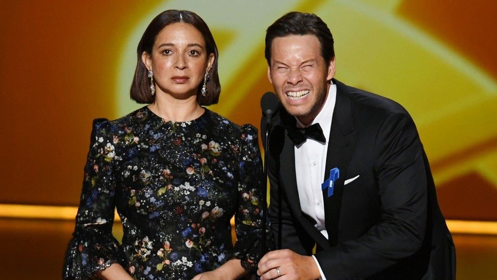 Maya Rudolph and Ike Barinholtz onstage during the 71st Emmy Awards
