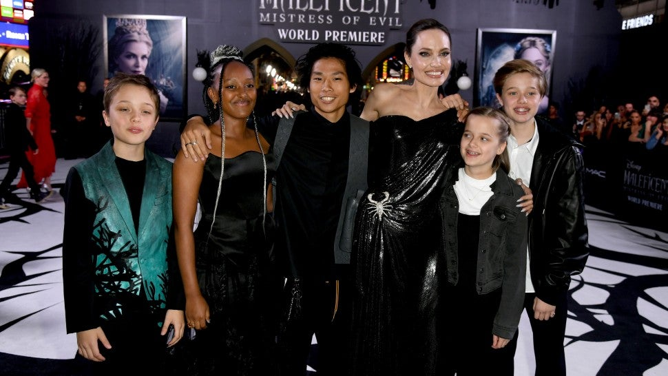 Angelina Jolie brings kids to Maleficent: Mistress of Evil premiere