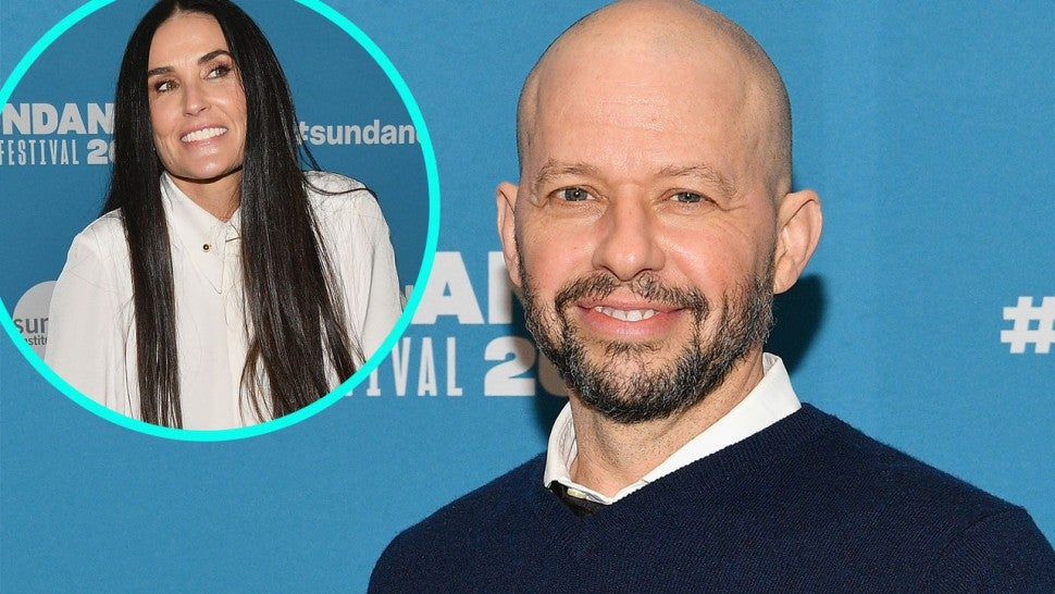 Jon Cryer and Demi Moore (inset)