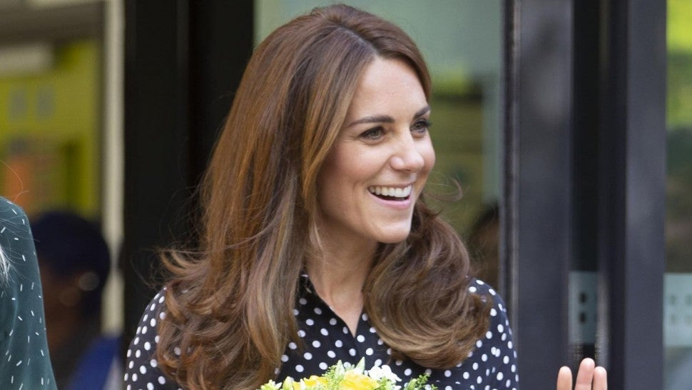 Kate Middleton stuns in polka dot blouse and pants  at surprise engagement