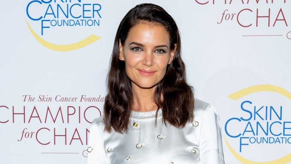 katie holmes in nyc on oct 17