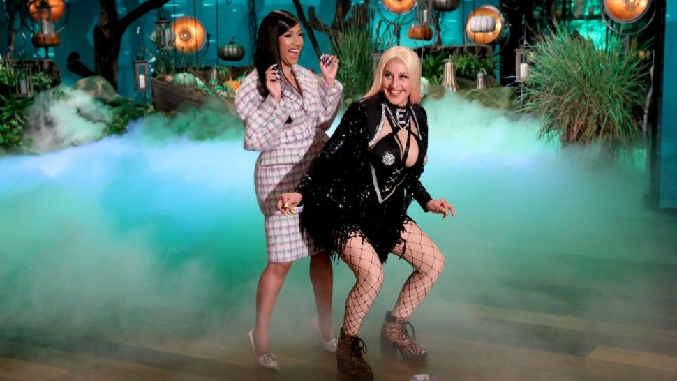 Ellen DeGeneres Goes Full-On 'Hustlers' For Halloween Show