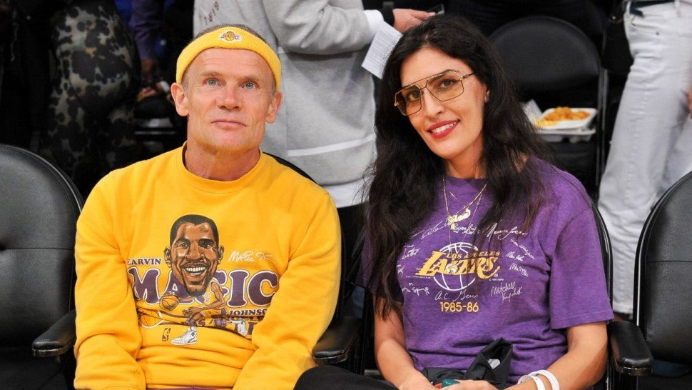 Flea and Melody at Lakers game