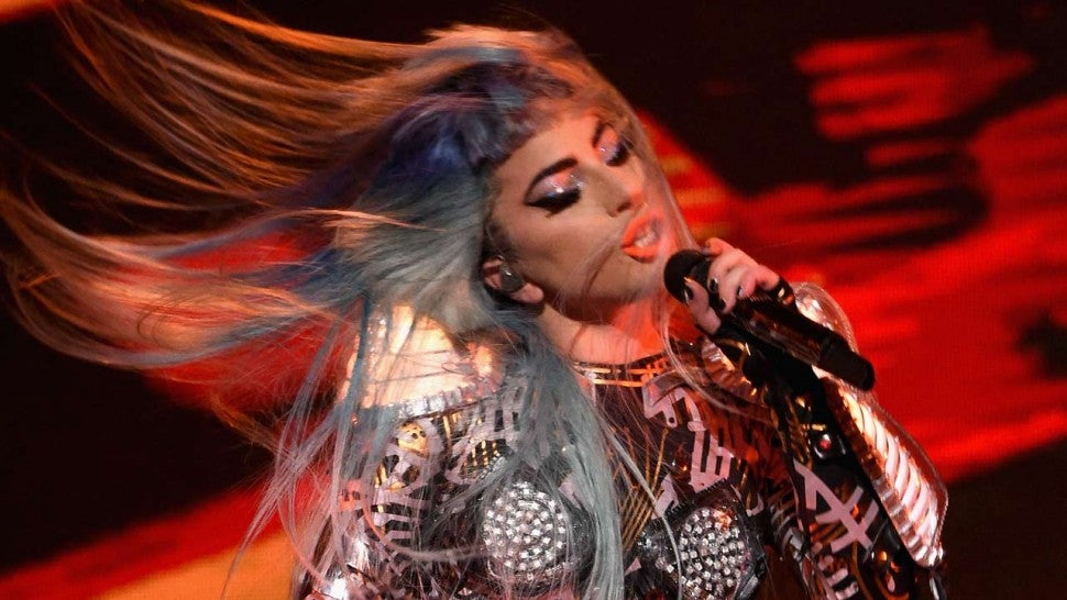 Image result for Lady Gaga Fall Off Stage During Vegas Residency