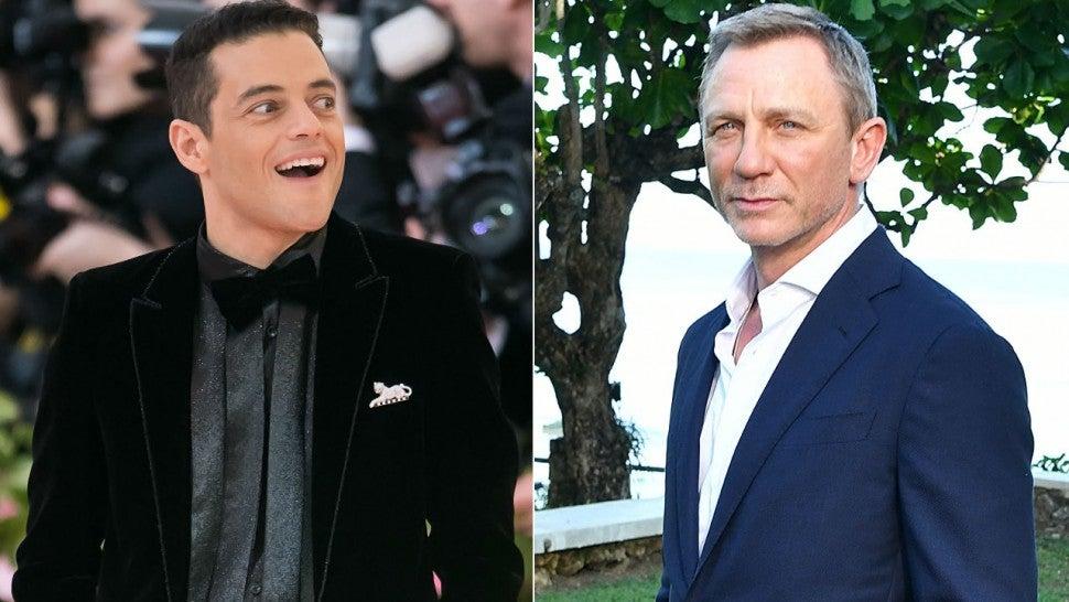 Rami Malek kissed Daniel Craig: 'Does that make me a Bond girl?'