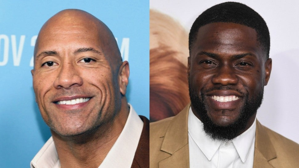 Kevin Hart And Dwayne Johnson Film Hilarious Joint Instagram