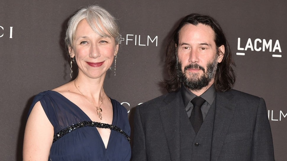 Alexandra Grant and Keanu Reeves at the 2019 LACMA Art + Film Gala