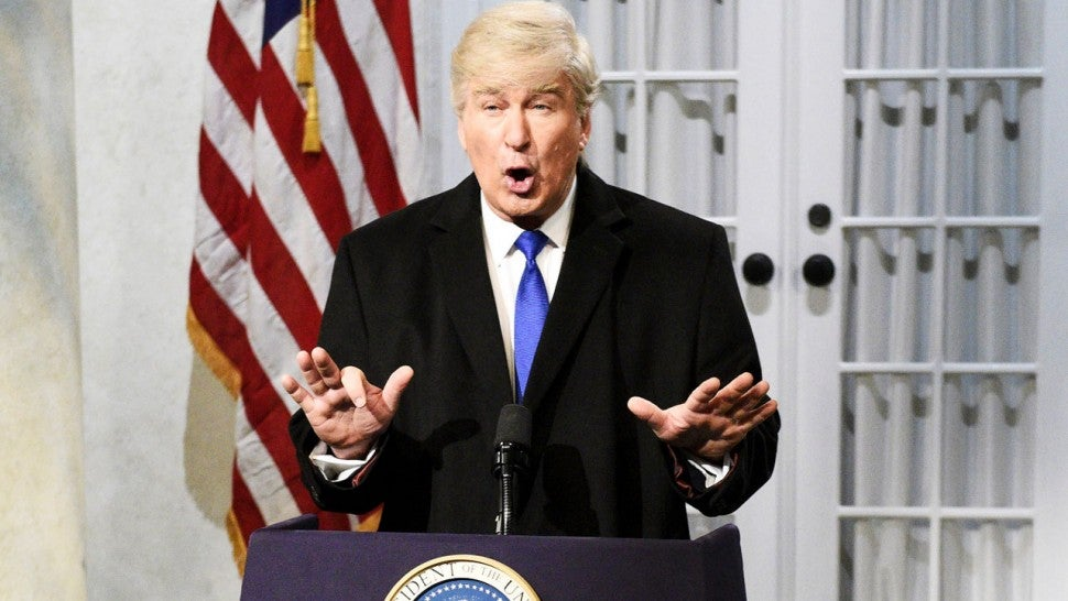 Alec Baldwin as Donald Trump on 'SNL'