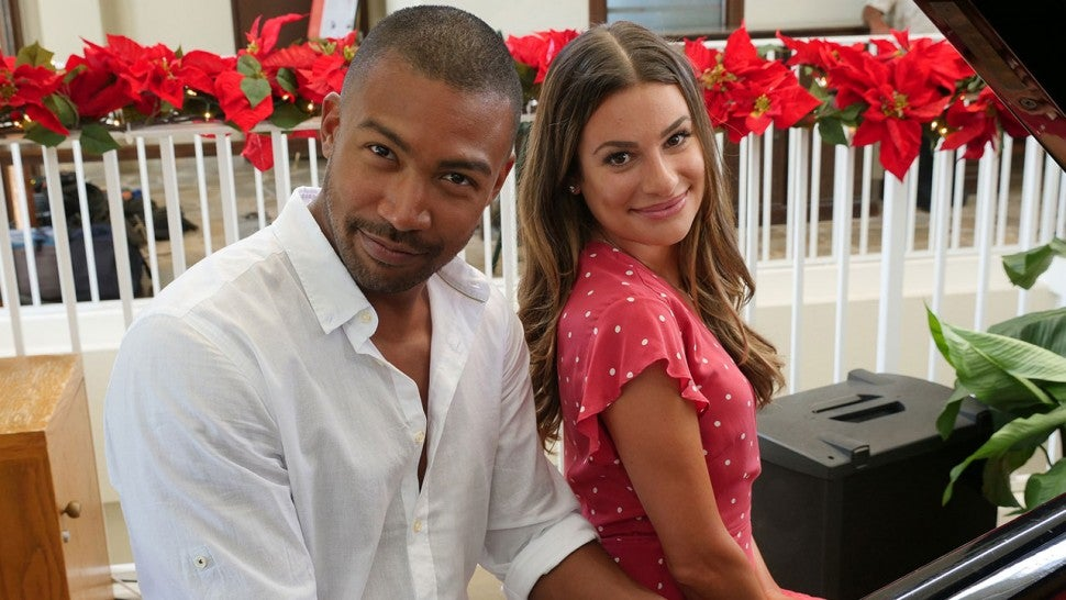 Charles Michael Davis and Lea Michele
