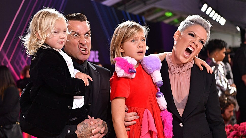 pink with family at PCAs