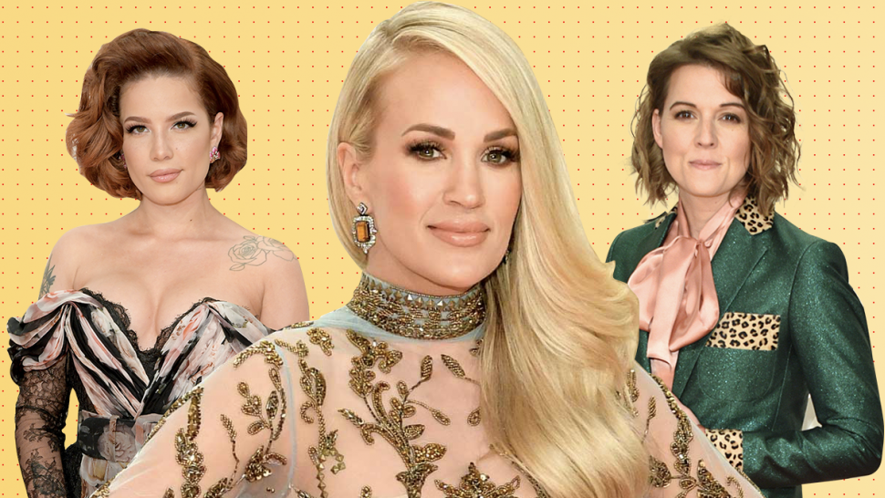 halsey, carrie underwood, brandi carlile - best dressed 2019 cma awards