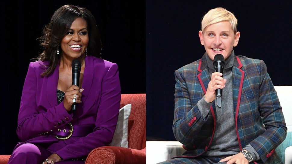 Michelle Obama and Ellen DeGeneres