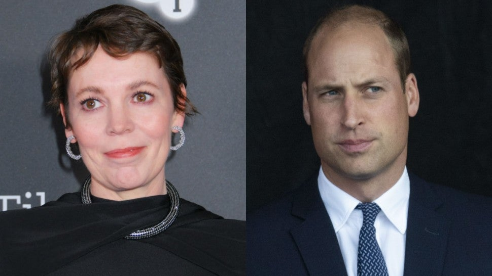 Olivia Colman and Prince William