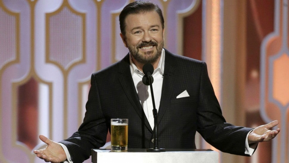 Hollywood, take cover: Ricky Gervais returns as 2020 Golden Globes host