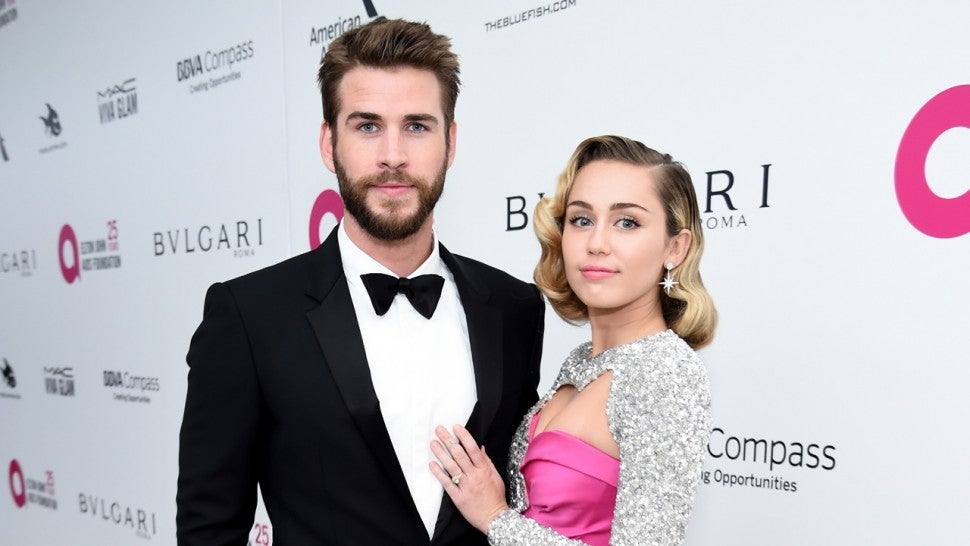 liam and miley in 2018