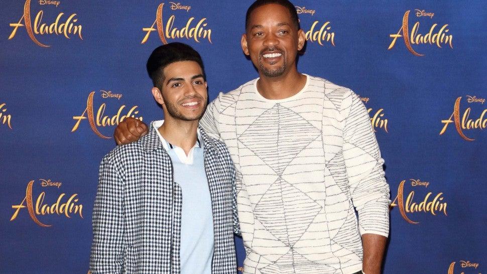 Mena Massoud and Will Smith seen at the Aladdin Cast Photocall in the Rosewood Hotel, Holborn.