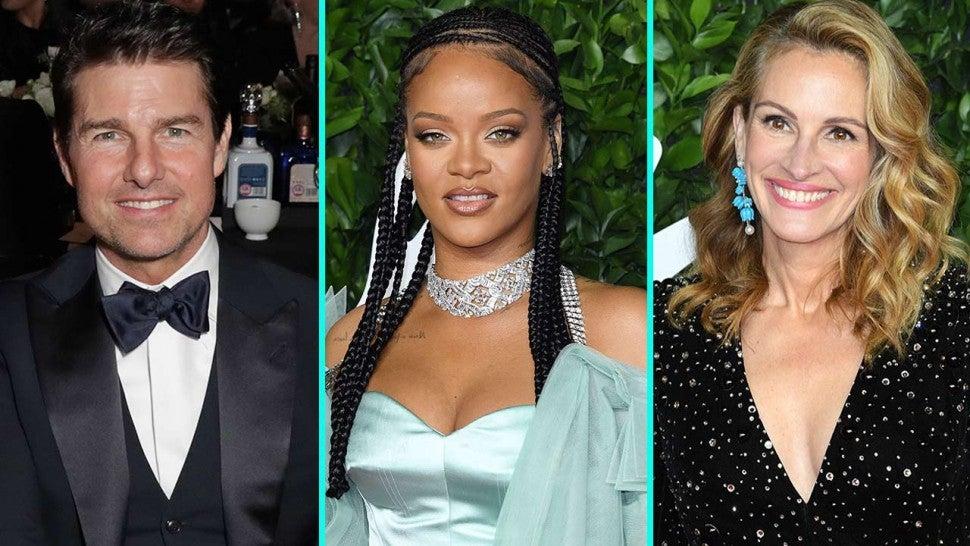 Tom Cruise Rihanna Julia Roberts And More Stars Shine