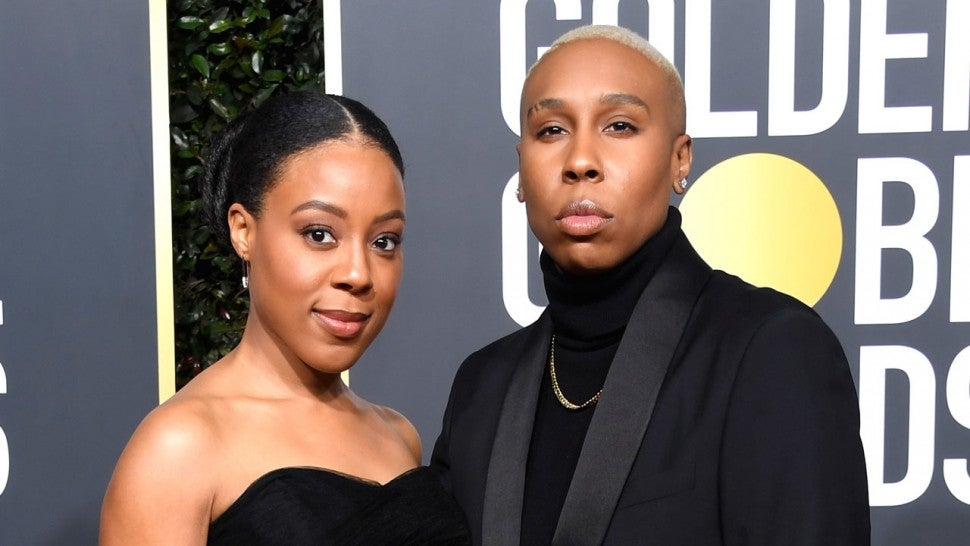 lena waithe and wife at 2019 golden globes