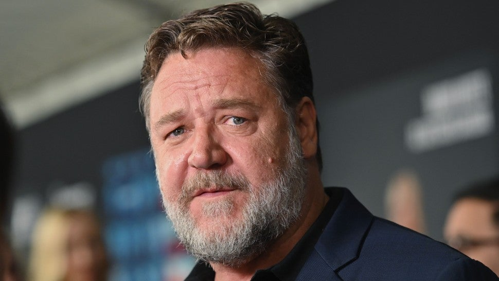 russell crowe at the loudest voice premiere