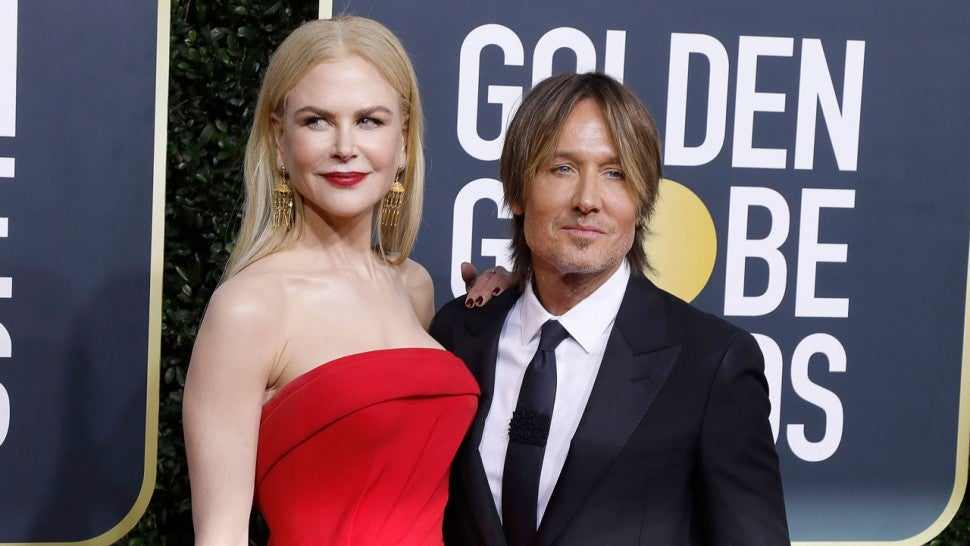 Nicole Kidman and Keith Urban at the 77th Annual Golden Globe Awards